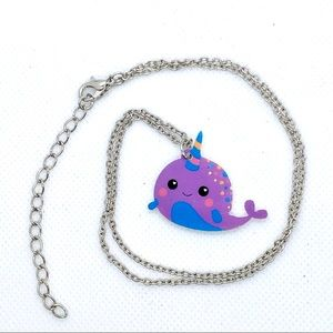 ❤️SALE-Tiny Narwhal Charm Necklace
